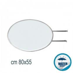 INSEGNA BIFACCIALE LUMINOSA OVALE CM 80X55 - CB57
