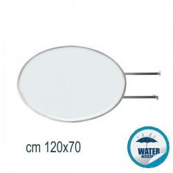 INSEGNA BIFACCIALE LUMINOSA OVALE CM 120X70 - CB60