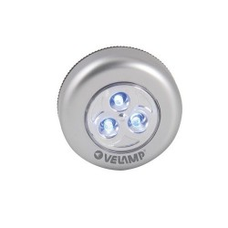 VELAMP IL12 MINI PUSH LIGHT 3 LED A BATTERIA CON ACCENSIONE A PRESSIONE - POL0007
