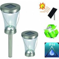 SET 2 PEZZI LAMPIONCINO DA GIARDINO AD ENERGIA SOLARE 3 IN 1 - POL0016 Catalogo Prodotti