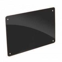 TARGHE PERSPEX NERO LUCIDO MM.5 VARIE MISURE - POL0217