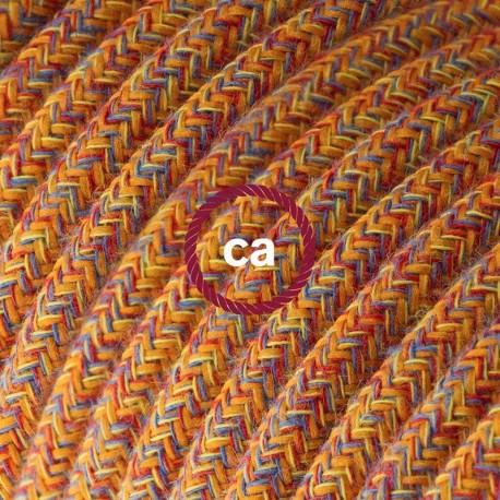 Cavo Elettrico rotondo rivestito in Cotone Indian Summer RX07