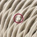 Cavo Elettrico trecciato rivestito in Cotone Tinta Unita Tortora TC43