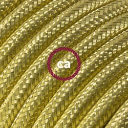 Cavo Elettrico rotondo 100% rivestito in Rame color Ottone