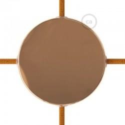 Kit rosone in metallo Ramato 120 mm 4 fori laterali, completo di accessori