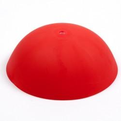 Cable cup rosso, rosone in silicone, montaggio istantaneo adatto a qualsiasi soffitto