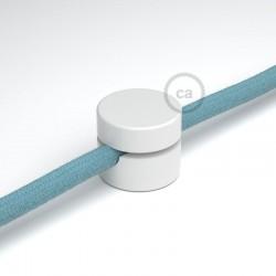 Fissaggio a parete passacavo universale bianco per cavo tessile