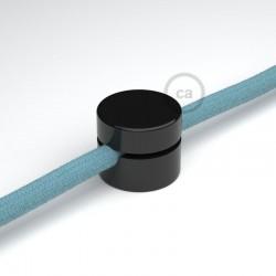 Fissaggio a parete passacavo universale bianco per cavo tessileFissaggio a parete passacavo universale nero per cavo tessile