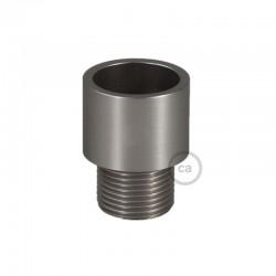 Terminale filettato in metallo zincato per Creative-Tube da 20 mm, con viti stringitubo