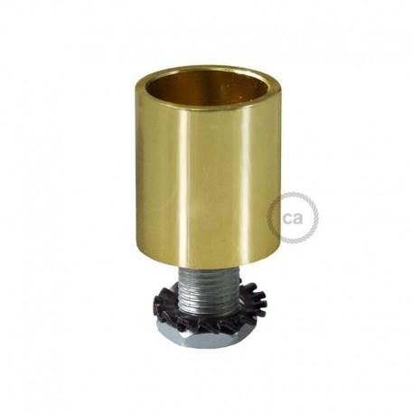 Terminale in metallo cromato per Creative-Tube da 16 mm, completo di accessoriTerminale in metallo ramato per Creative-Tube da 1