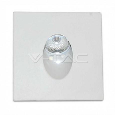 V-TAC VT-1109 sq FARETTO SEGNAPASSO LED DA INCASSO ROTONDO 3W COB - SKU 1209 / 1210