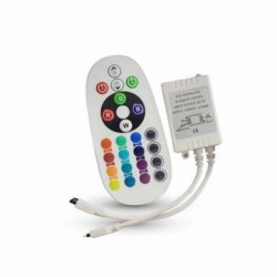 V-TAC CONTROLLER PER STRISCE LED RGB CON TELECOMANDO 24 TASTI - SKU 3625