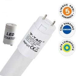 V-TAC PRO VT-122 SMD TUBO LED NANO PLASTIC T8 G13 18W CHIP SAMSUNG LAMPADINA 120CM - SKU 672 / 673