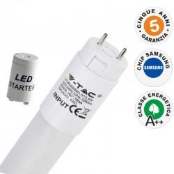V-TAC PRO VT-152 SMD TUBO LED NANO PLASTIC T8 G13 22W CHIP SAMSUNG LAMPADINA 150CM - SKU 674 / 675