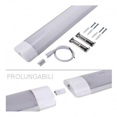 V-TAC VT-80404 TUBO LED PRISMATICO RACCORDABILE PLAFONIERA 40W LAMPADINA 120CM - SKU 6389 / 6390 / 6391