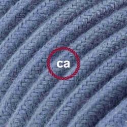 Cavo Elettrico rotondo rivestito in Cotone Tinta Unita Grigio Pietra RC30