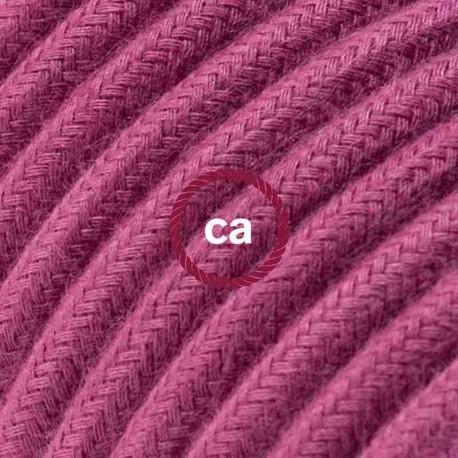Cavo Elettrico rotondo rivestito in Cotone Tinta Unita Vinaccia RC32
