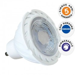 V-TAC PRO VT-227D LAMPADINA LED GU10 6,5W FARETTO SPOTLIGHT CHIP SAMSUNG DIMMERABILE - SKU 195 / 196 / 197