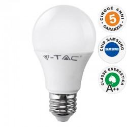 V-TAC PRO VT-285 LAMPADINA LED E27 8,5W BULB A60 CHIP SAMSUNG - SKU 252 / 253 / 254