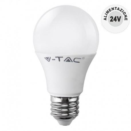 V-TAC VT-2059 LAMPADINA LED E27 9W BULB A60 24V DC - SKU 7224