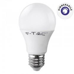 V-TAC VT-2007D LAMPADINA LED E27 7W BULB A60 DIMMERABILE - SKU 4379 / 4380 / 4381