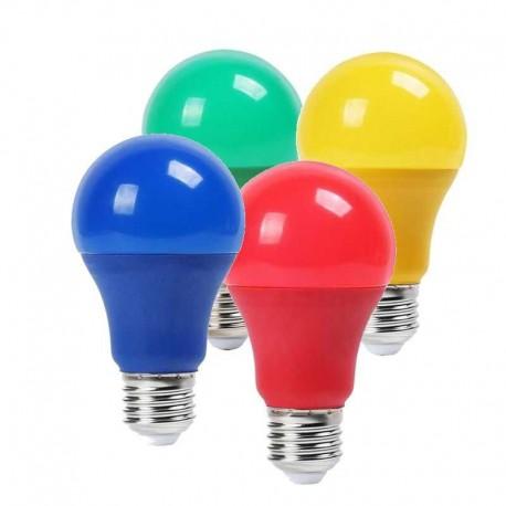 V-TAC VT-2000 LAMPADINA LED E27 9W BULB A60 COLORATA - SKU 7341 / 7342 / 7343 / 7344