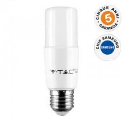 V-TAC PRO VT-237 LAMPADINA LED E27 8W TUBOLARE T37 CHIP SAMSUNG - SKU 144 / 145 / 146