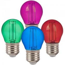 V-TAC VT-2132 LAMPADINA LED E27 2W MINIGLOBO G45 COLORATA FILAMENT - SKU 7410 / 7411 / 7412 / 7413