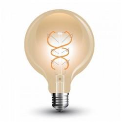 V-TAC VT-2075 LAMPADINA LED E27 5W GLOBO G95 FILAMENTO AMBRATA - SKU 7217