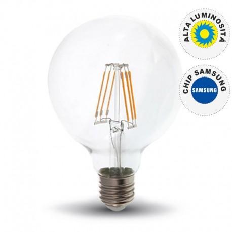 V-TAC PRO VT-286 LAMPADINA LED E27 6W GLOBO G95 CHIP SAMSUNG - SKU 294