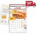 CALENDARIO ILLUSTRATO STREET FOOD - Conf. 100 pezzi
