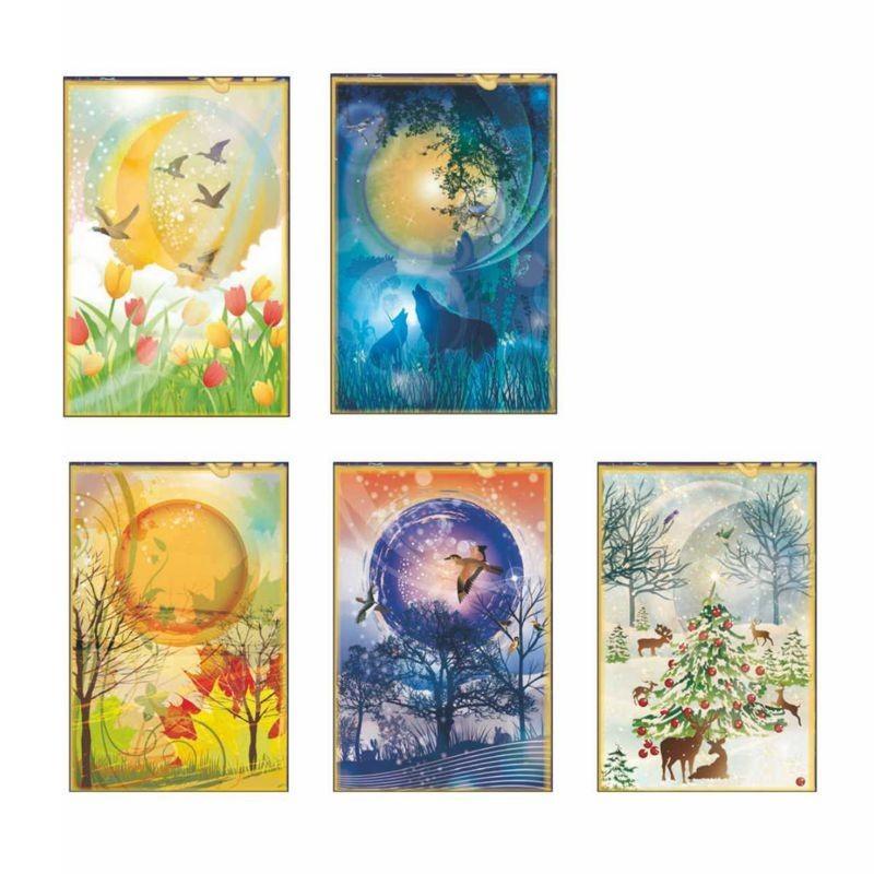 Calendario Illustrato.Calendario Illustrato Lunario Conf 100 Pezzi