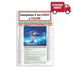 CALENDARIO ILLUSTRATO SCOMMESSE - Conf. 100 pezzi
