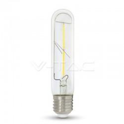 V-TAC VT-2042 LAMPADINA LED E27 2W TUBOLARE 2 FILAMENTI - SKU 7251