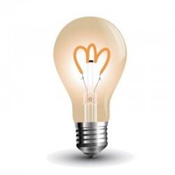 V-TAC VT-2063 LAMPADINA LED E27 3W BULB A65 FILAMENTO AMBRATA - SKU 7219
