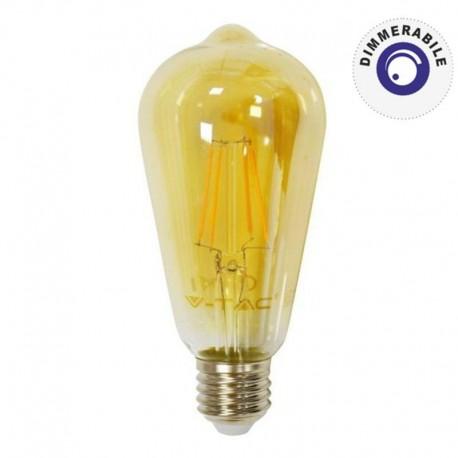 V-TAC VT-1964D LAMPADINA LED E27 4W BULB ST64 FILAMENTO DIMMERABILE - SKU 4368