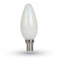 V-TAC VT-1924 LAMPADINA LED E14 4W CANDELA CROSS FILAMENT WHITE - SKU 71031