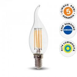 V-TAC PRO VT-264 LAMPADINA LED E14 4W CANDELA FIAMMA FILAMENT CHIP SAMSUNG - SKU 275