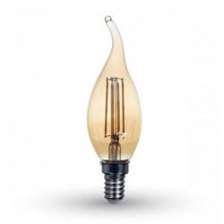 V-TAC VT-1949 LAMPADINA LED E14 4W CANDELA FIAMMA FILAMENTO AMBRATA - SKU 7114