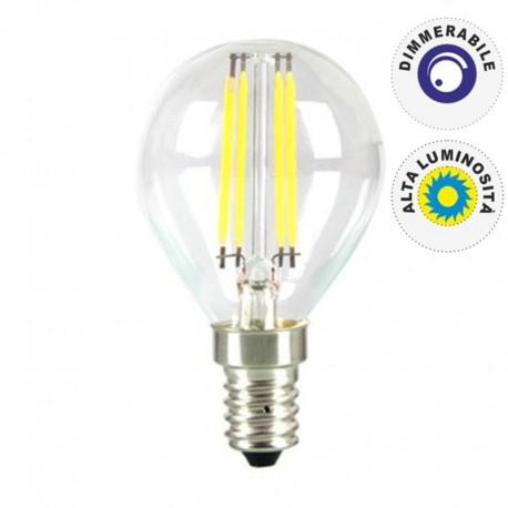 V-TAC VT-1996D LAMPADINA LED E14 4W MINIGLOBO FILAMENTO P45 DIMMERABILE - SKU 4394
