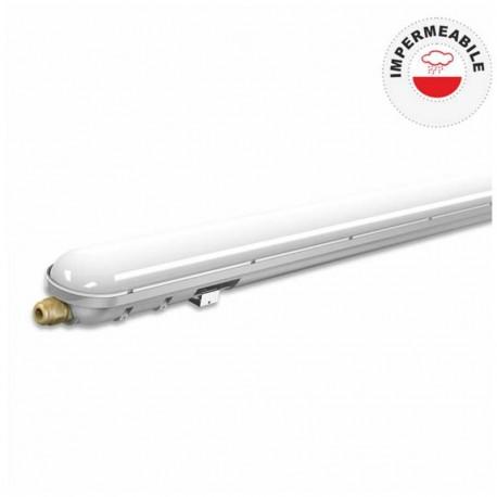V-TAC VT-1548 TUBO LED PLAFONIERA 48W LAMPADINA 148CM IMPERMEABILE - SKU 6184 / 6185
