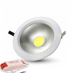 V-TAC VT-2610 FARETTO LED DA INCASSO ROTONDO 10W COB - SKU 1102 / 1101 / 1100