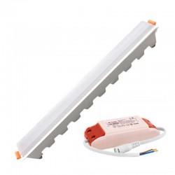 V-TAC VT-10002 PANNELLO LED LINEARE 10W SMD DA INCASSO CON DRIVER - SKU 6410 / 6411