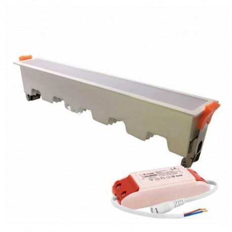V-TAC VT-10001 PANNELLO LED LINEARE 10W SMD DA INCASSO CON DRIVER - SKU 6401 / 6402 / 6403