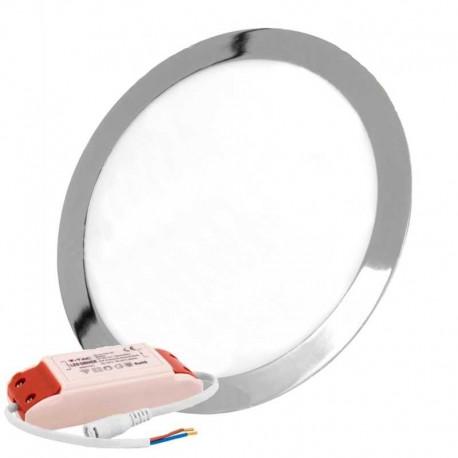 V-TAC VT-2407RD PANNELLO LED ROTONDO 24W SMD SATINATO DA INCASSO CON DRIVER - SKU 6355 / 6356 / 6357