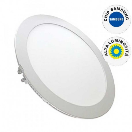 V-TAC VT-2200RD PANNELLO LED ROTONDO 22W DA INCASSO - SKU 4835 / 4834 / 4833