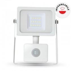 V-TAC VT-4810 PIR FARETTO LED 10W ULTRA SOTTILE SLIM CON SENSORE COLORE BIANCO - SKU 5746 / 5747 / 5748