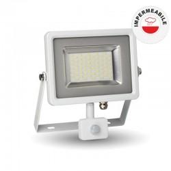 V-TAC VT-4830 PIR FARETTO LED 30W ULTRA SOTTILE SLIM CON SENSORE COLORE BIANCO - SKU 5757 / 5751 / 5752