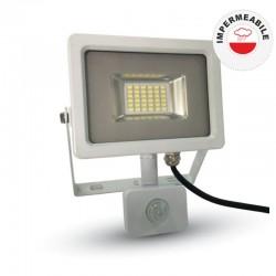 V-TAC VT-4830 PIR FARETTO LED 30W ULTRA SOTTILE SLIM CON SENSORE COLORE GRIGIO - NERO - SKU 5699 / 5700 / 5716