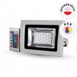 V-TAC VT-4711 RGB MULTICOLORE FARETTO LED 10W DA ESTERNO CON TELECOMANDO INFRAROSSI - SKU 5895